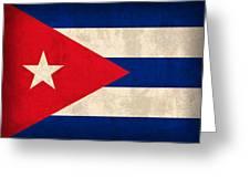 Cuba Flag Vintage Distressed Finish Greeting Card