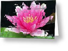 Cubed Lily Greeting Card