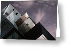 Cubic Reflection. Greeting Card