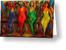 Cubism Dance  Greeting Card