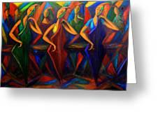 Cubism Music I Greeting Card