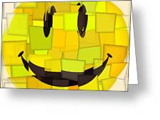 Cubism Smiley Face Greeting Card