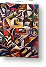 Cubist Cityscape, 1914 Greeting Card