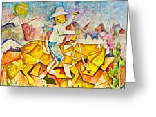 Cubist Cowboy Greeting Card