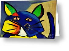 Cubist Inspired Cat  Greeting Card