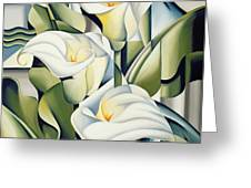 Cubist Lilies Greeting Card