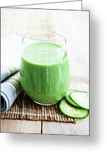 Cucumber Apple And Kale Smoothie Greeting Card