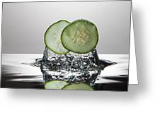 Cucumber Freshsplash Greeting Card