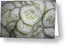 Cucumber Greeting Card