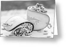 Cucumber Rolls Black And White Greeting Card