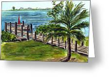 Cudjoe Dock Greeting Card