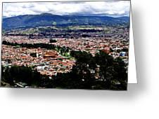 Cuenca And Turi Panorama Greeting Card