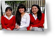 Cuenca Kids 277 Greeting Card by Al Bourassa