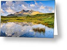 Cuillin Reflection Greeting Card