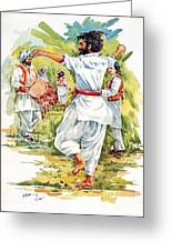 Cultural Dance Of Afghanistan Attan Greeting Card