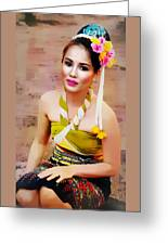 Culture Girl Greeting Card