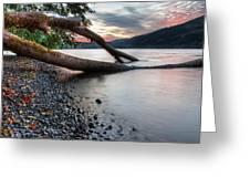 Cultus Lake Sunset Greeting Card