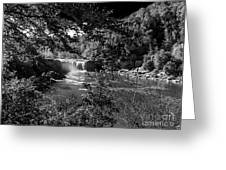 Cumberland Falls Black And White Greeting Card