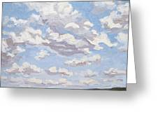 Cumulus Clouds Over Flint Hills Greeting Card by Erin Fickert-Rowland