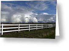 Cumulus Clouds Over Stockton Greeting Card