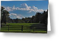 Cumulus Over Green Pastures Greeting Card