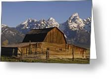Cunningham Cabin Grand Tetons Wyoming Greeting Card
