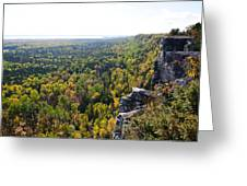 Cup And Saucer Trail Greeting Card