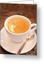 Espresso In White Greeting Card