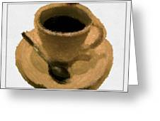 Cup Of Coffee Pissaro Style Greeting Card