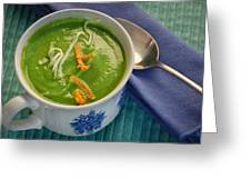Cup Of Soup Greeting Card