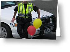 Cupcake And Balloon Checkpoint Greeting Card