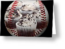 Cupcake Cuties Baseball Square Greeting Card