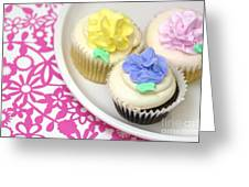 Cupcakes On A Plate Greeting Card