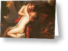 Cupid And Psyche Greeting Card by Benjamin West