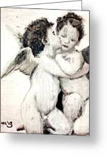 Cupid And Psyche By William Bouguereau Greeting Card