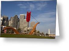 Cupids Arrow San Francisco Greeting Card
