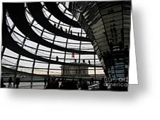 Cupola Reichstags Building Berlin Greeting Card