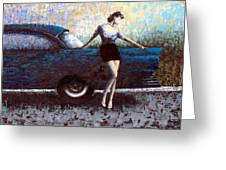 Curb Appeal Greeting Card by Ned Shuchter
