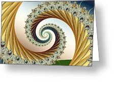 Curl #8 Greeting Card