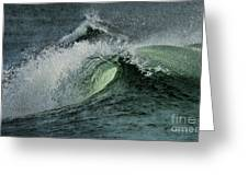 Curl Of The Wave Greeting Card