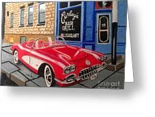 Curley's Corvette Greeting Card