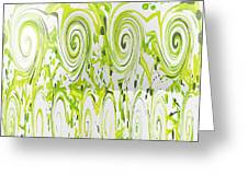 Curly Greens Greeting Card