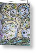 Curly Tree In Fantasy Land Greeting Card