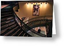 Curly's Stairway Greeting Card