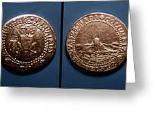 Currency: U.s. Coin, 1787 Greeting Card
