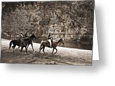 Current River Horses Greeting Card