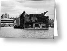 Currently Condemned Pier 64 On The Hudson River New York City Greeting Card