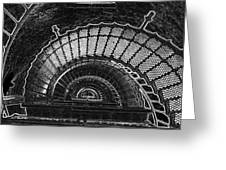 Currituck Lighthouse Stairs Greeting Card