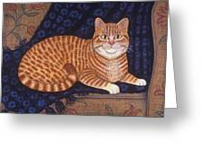 Curry The Cat Greeting Card by Linda Mears
