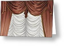 Curtain Greeting Card by Matthias Hauser
